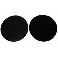 Velcros noirs male et femelle pour ecusson rond
