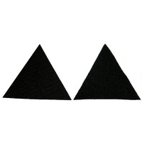 Velcros noirs male et femelle pour ecusson cosplay type militaire ou paintball