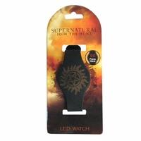 Montre officielle Supernatural symbole anti possession montre à led