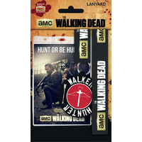 The walking dead lot Tour de cou et porte cles Walking dead officiels sous blister
