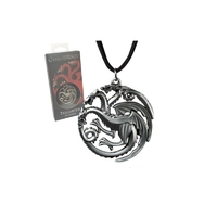 Pendentif officiel Game of Thrones maison Targaryen