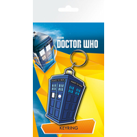 Porte cles tardis police box Doctor Who en pvc officiel
