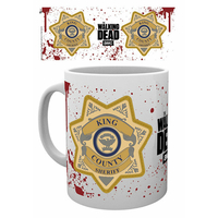 Tasse officielle the Walking dead Badge Rick grimes The walking dead