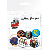 Blister 6 badges officiels The Big Bang Theory