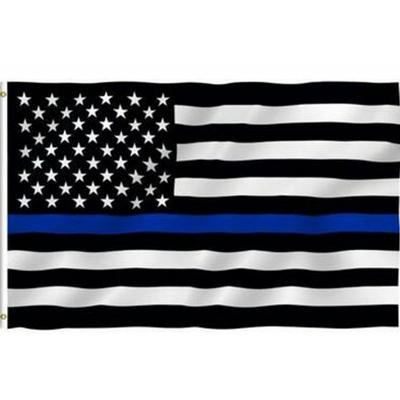 drapeau-usa-bande-bleue-hommage-police