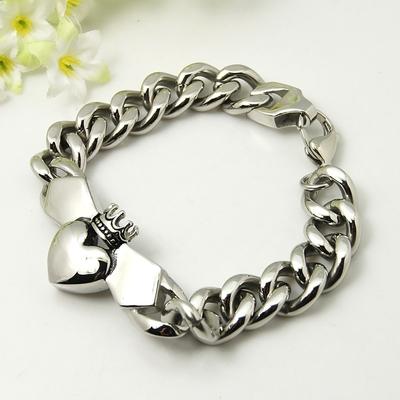 bracelet-homme-claddagh-acier-inoxydable