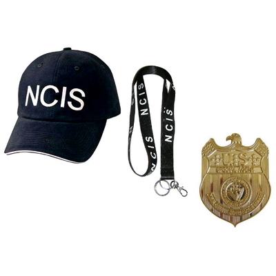 lot-tenue-agent-ncis-casquette-badge-tour-de-cou