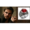 Chevalière Killian Jones Once upon a time Bague Crochet Hook 's red gem ring
