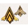 Insigne Battlestar Galactica en métal des pilotes de Viper