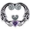 Ecusson Buffy contre les vampires symbole claddagh