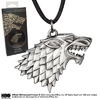 Pendentif officiel Game of Thrones embleme maison Stark