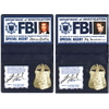 Lot Badges d'agents du FBI Mulder et Scully série X-Files