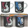 Lot 2 tasses Star Wars Han Solo et Leia