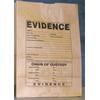 Sac en papier pour indices de la police scientifique