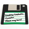 Sous verre disquette rétro en pvc accessoire geek
