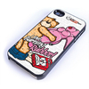 Coque iphone 4 et 4S Bad taste Bears modèle I love Burning rubber