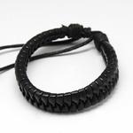 californication-bracelet-hank-moody-cuir-noir