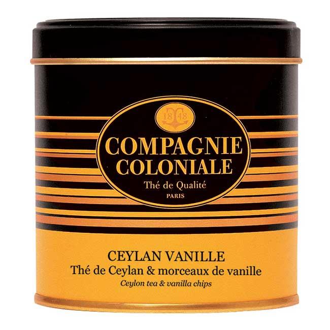 Thé Ceylan Vanille en boîte métal luxe de 130 g