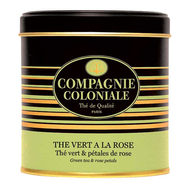 Thé Vert à la Rose en boîte métal luxe de 100 g