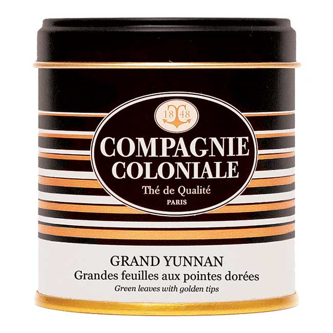 Thé Grand Yunnan en boîte métal luxe 100 g