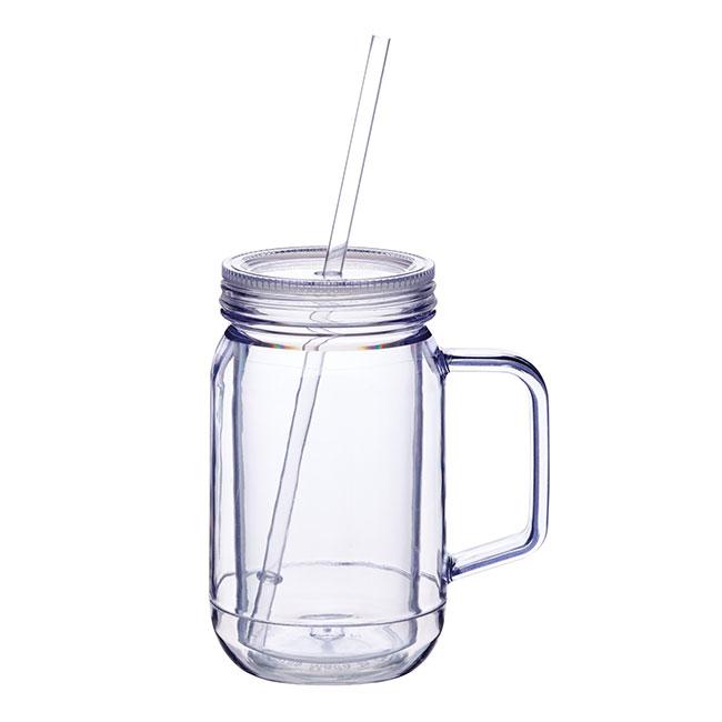 tasse bocal mason jar en plastique les accessoires pour. Black Bedroom Furniture Sets. Home Design Ideas
