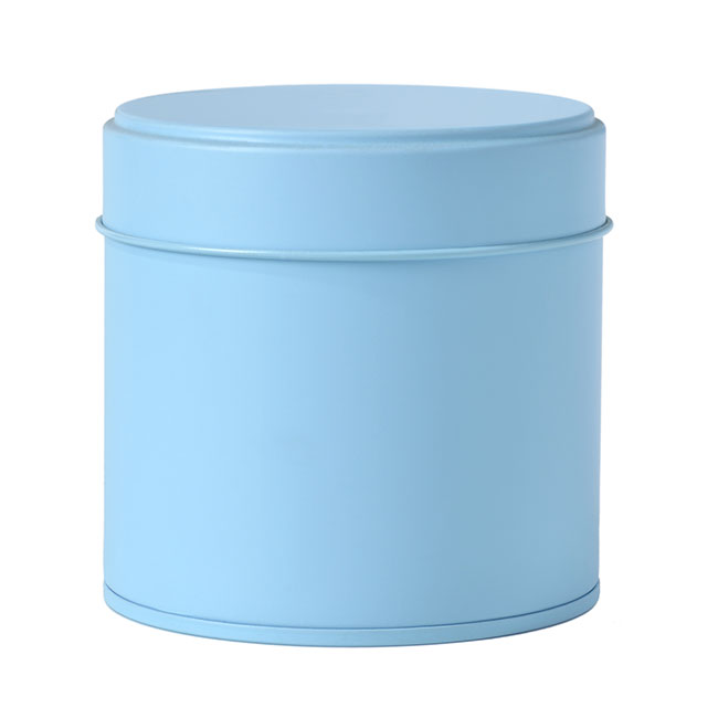 Boîte à thé ronde - 80 g - Bleu