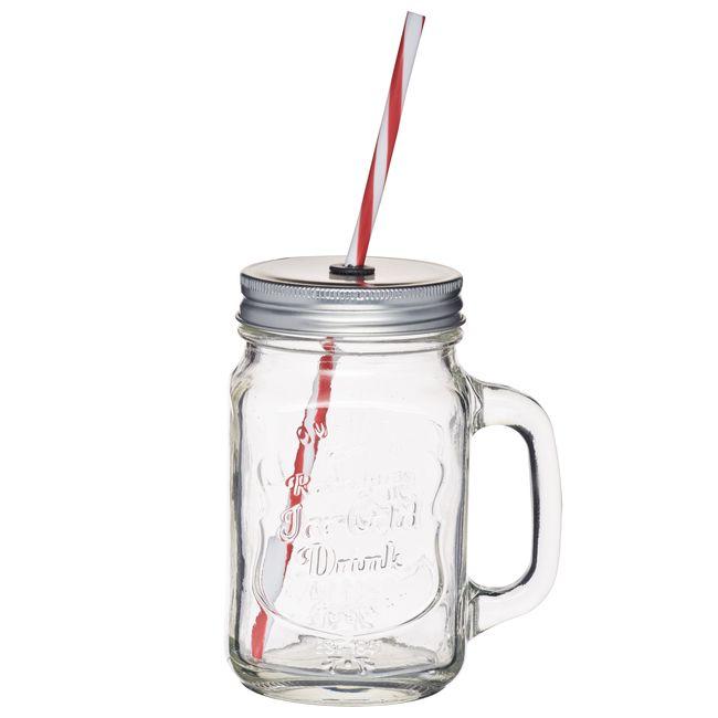 Tasse vintage Mason Jar en verre