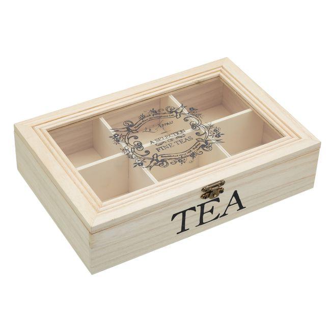 coffre th en bois les accessoires pour th s boites et rangement mes. Black Bedroom Furniture Sets. Home Design Ideas