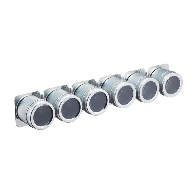Support et pots à épices magnétiques