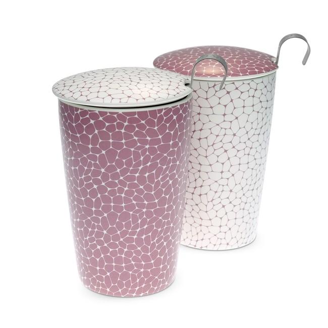 Tisanière Stones Lilas double paroi avec filtre - 35cl - 2 coloris