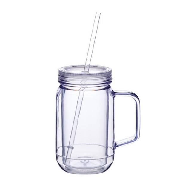 Tasse bocal mason jar en plastique les accessoires pour for Bocal plastique poisson