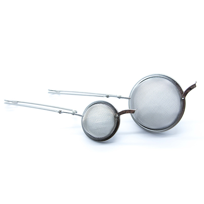 Pince passe-thé en acier - Ø 45 mm ou Ø 65 mm