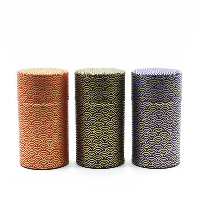 Boîte à thé ronde - 100 g - Coloris multiples
