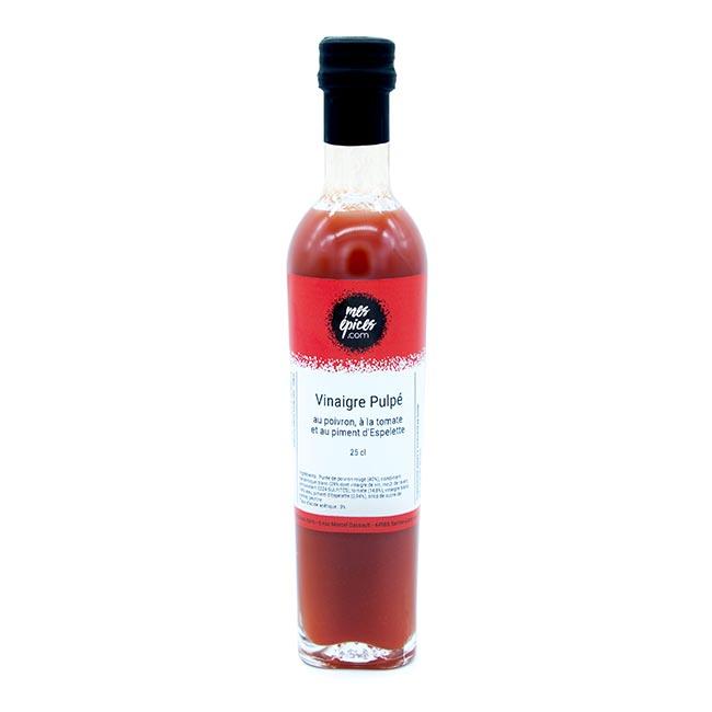 Vinaigre à la pulpe de poivron, tomate et piment d'Espelette - 25cl