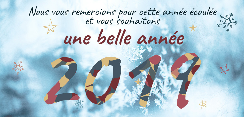 Nous vous remercions pour cette année écoulée et vous souhaitons une belle année 2019 !