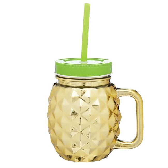 Tasse Ananas Mason Jar en verre