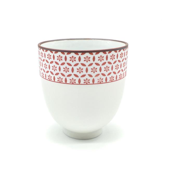 Tasse rose floral - Porcelaine - 150 mL