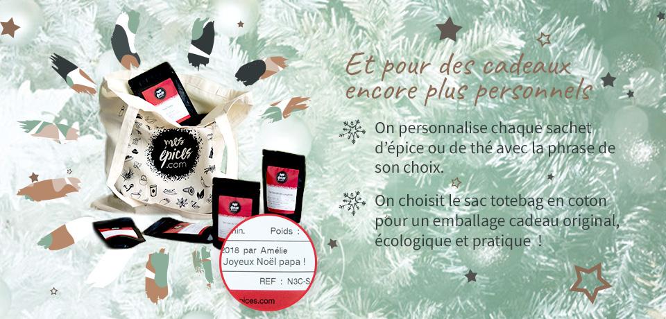 Pour les fêtes, personnalisez vos sachets et emballez vos cadeaux dans un sac coton original et écologique !