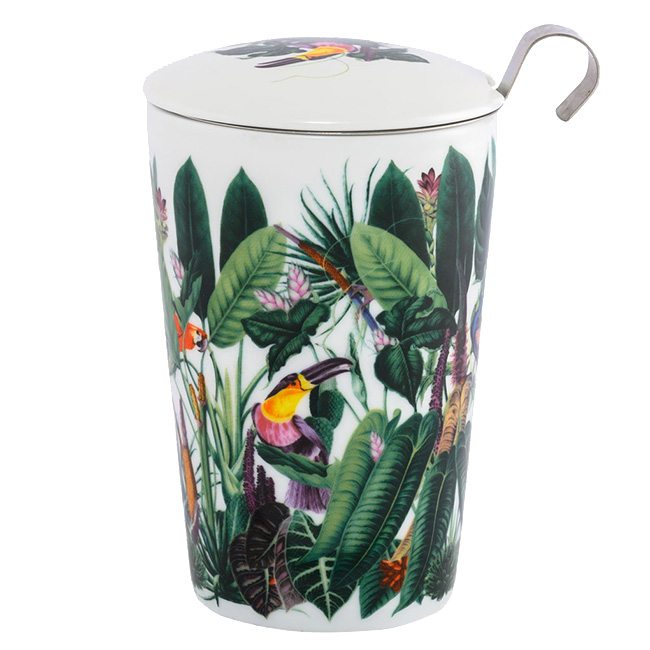 Tisanière Rainforest porcelaine double paroi avec filtre - 35 cl