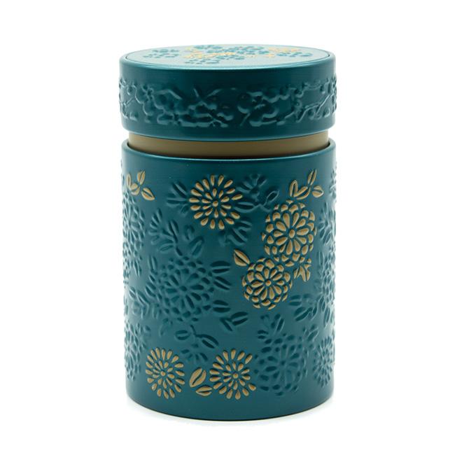 Boîte à thé Yumiko bleu et or - 150 g