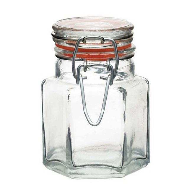 Bocal à épices en verre hexagonal 100 ml