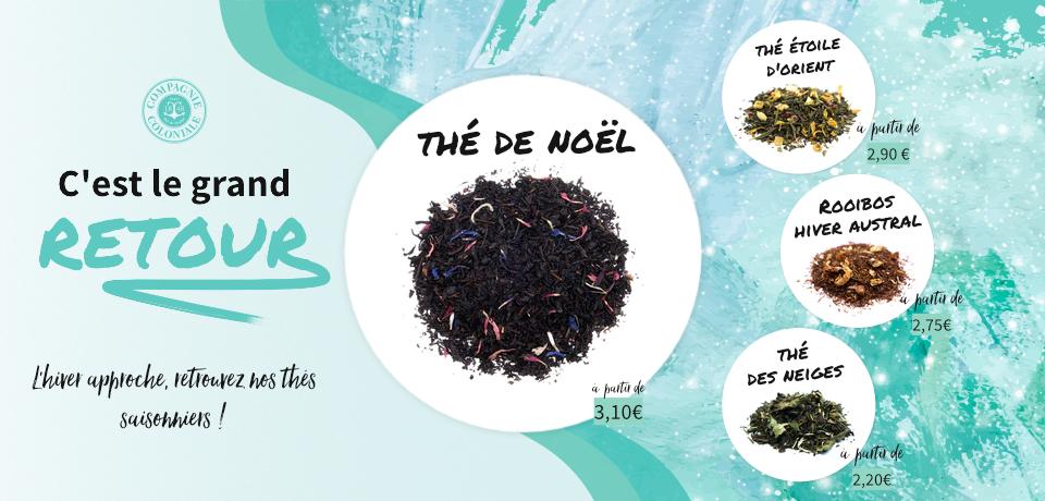 L'hiver approche, retrouvez nos thés saisonniers !
