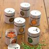 pots à épices design en inox ouverts