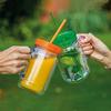 mason-jar-bocal-tasse-plastique-vert-orange-sante