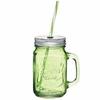 Tasse vintage Mason Jar en verre vert