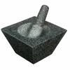 Mortier et pilon trapèze en granit