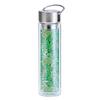 Thermos en verre double paroi avec infuseur Flowtea Jungle - 40cl