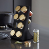 support-a-epices-finition-noir-mat-et-laiton-elegant-8-pots