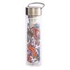 Thermos en verre double paroi avec infuseur Flowtea Fireflower - 40 cl