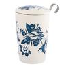 Tisanière Luna blanche porcelaine double paroi avec filtre - 35 cl